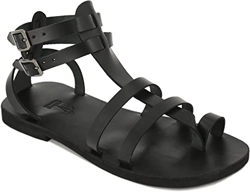 Men Gladiator Leather Sandals Ankle