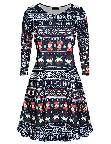 Walant Women Christmas Pullover Flared