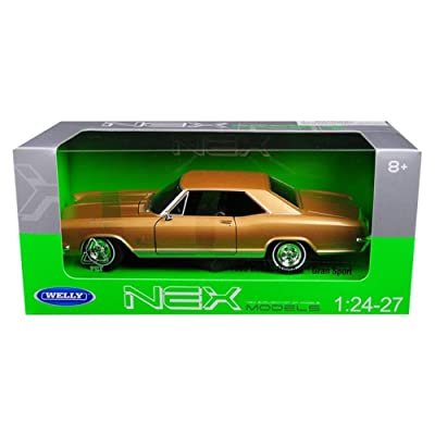 Welly 24072GLD 1965 Buick Riviera Gran Sport Gold 1/24 - 1/27 Diecast Model Car: Toys & Games