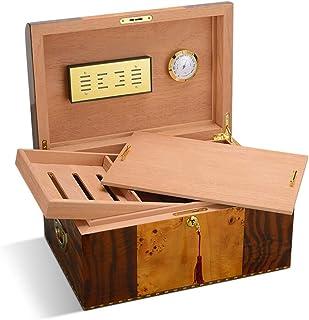 YONGMEI Scatola di sigari - Scatola di sigari Multistrato con Scatola di Legno idratante di Cedro (Colore : Brown)