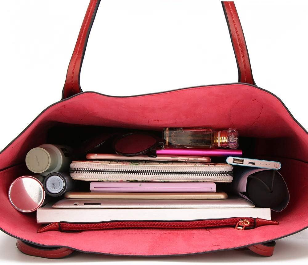 WyaengHai Ladies Handbags Top Borsa Tracolla Borse Borsa Maniglia Grande capacità Borsa della Borsa della Donna for Il Turismo Signore Hobo Borsa a Tracolla (Color : Blue) Wine Red
