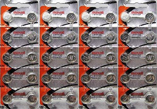 Maxell Alkaline Button - 40 Authentic Maxell LR1130 AG10 189 LR54 Alkaline 1.5V Batteries