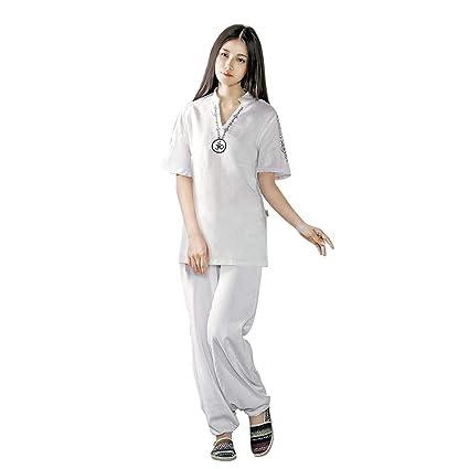 KSUA Traje de Yoga para Mujer con OM Diseño Algodón Zen ...