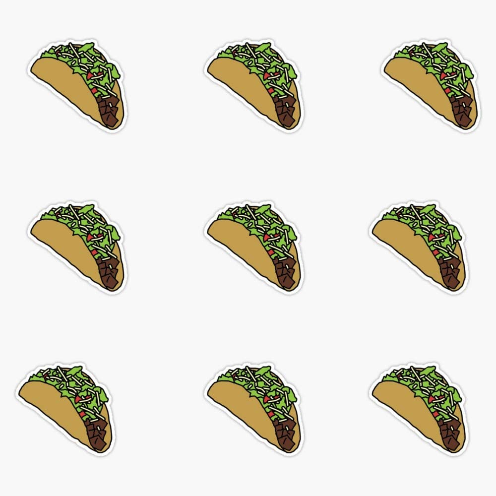 Chipotle Inspired - Taco Pattern Vinyl Waterproof Sticker Decal Car Laptop Wall Window Bumper Sticker 5""