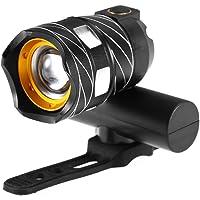 Lixada Zoomable luz da frente da bicicleta usb recarregável lâmpada da bicicleta led frente luz mtb farol da bicicleta…