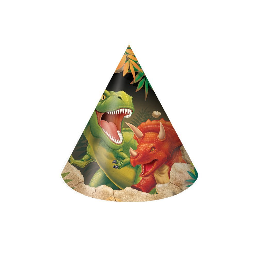 Creative Converting Dino Blast 24 Count Child Party Hats