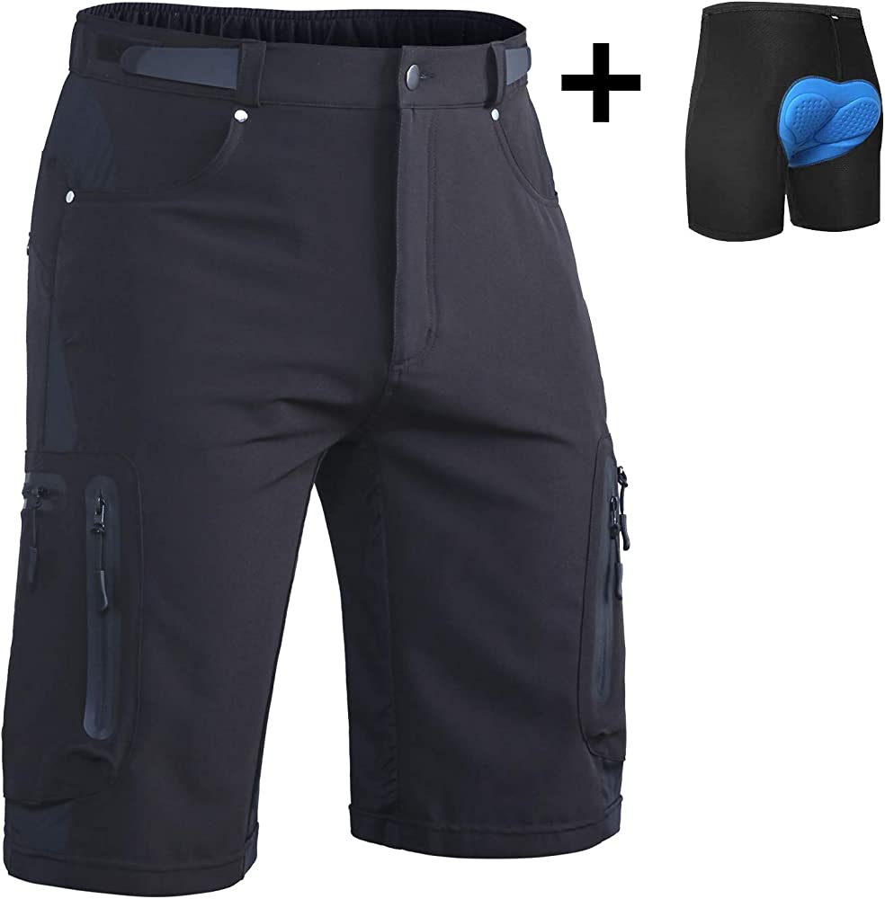 Mens Cycling Shorts MTB Mountain Road Bike Loose Sports Shorts Baggy Bicycle