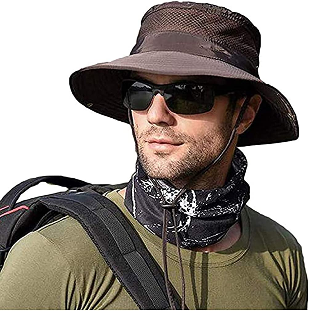 Men Women Sunscreen Cooling Hat Ice Cap Heatstroke Protection Cooling Cap Wide Brim Sun Hat with UV Protection