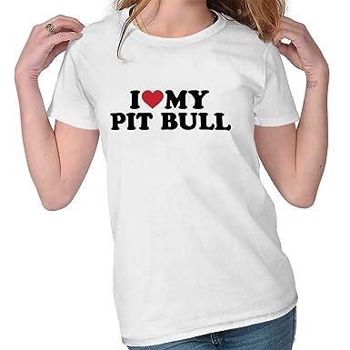 I Love Heart My Pug Ladies T-Shirt