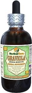 Graviola (Annona Muricata) Glycerite, Organic Dried Leaves Alcohol-FREE Liquid Extract 2 oz