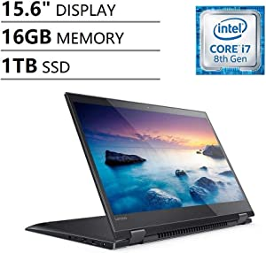 "Lenovo Ideapad Flex 5 15.6"" Full HD FHD IPS Touchscreen 2-in-1 Business Laptop (Intel Quad-Core i7-8550U, NVIDIA MX130, 16GB DDR4 RAM, 1TB SSD) Fingerprint, Backlit, Type-C, Webcam, Windows 10 64-bit"