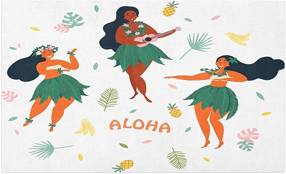 Marlon Kitty Felpudo de Ukelele, 3 Chicas Hawaianas Bailando y ...