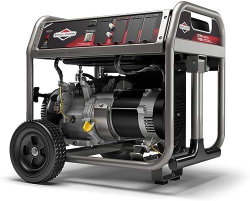 Briggs Stratton 30708 5750w Generator, Portable, Gas Powered, Black