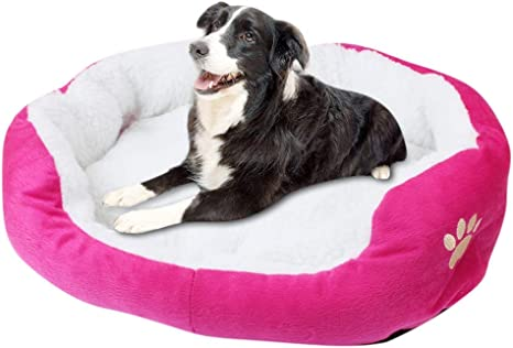 Amazon Com Pet Dog Beds For Small Medium Dogs Cat Orthopedic Memory Foam Washable Soft Warm Fleece Sofa Not Suitable Large Dogs Pet Supplies