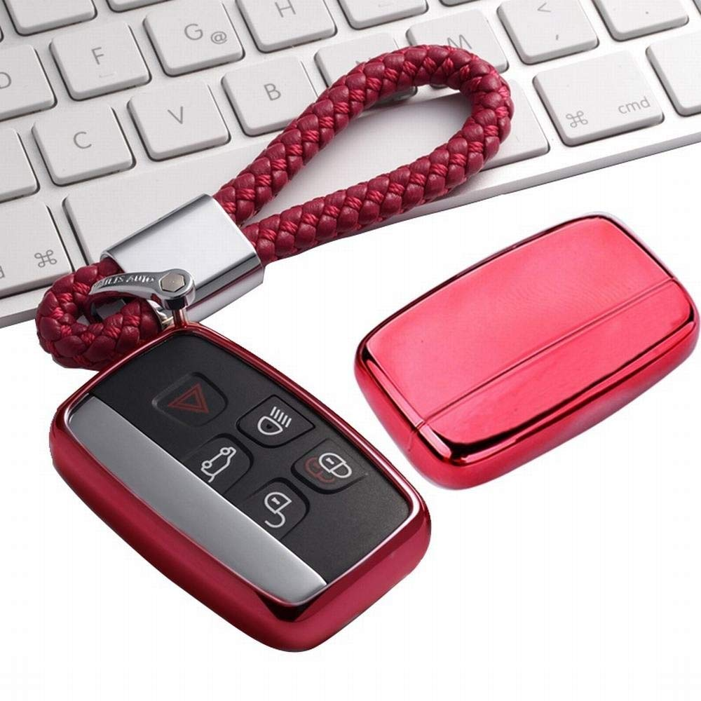 XUNHANG Cover Fit Freelander Evoque Range Rover Jaguar para Land Rover Key Fob Entrada de Caso Keyless Control Remoto Key, reemplazo Smart Car Key Fob (Color : Azul)
