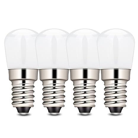 amzdeal – Bombillas LED con casquillo E14, 2 W, blanco cálido