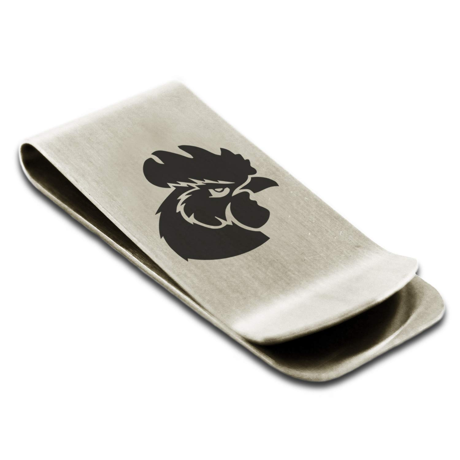 Stainless Steel Rooster Money Clip Credit Card Holder