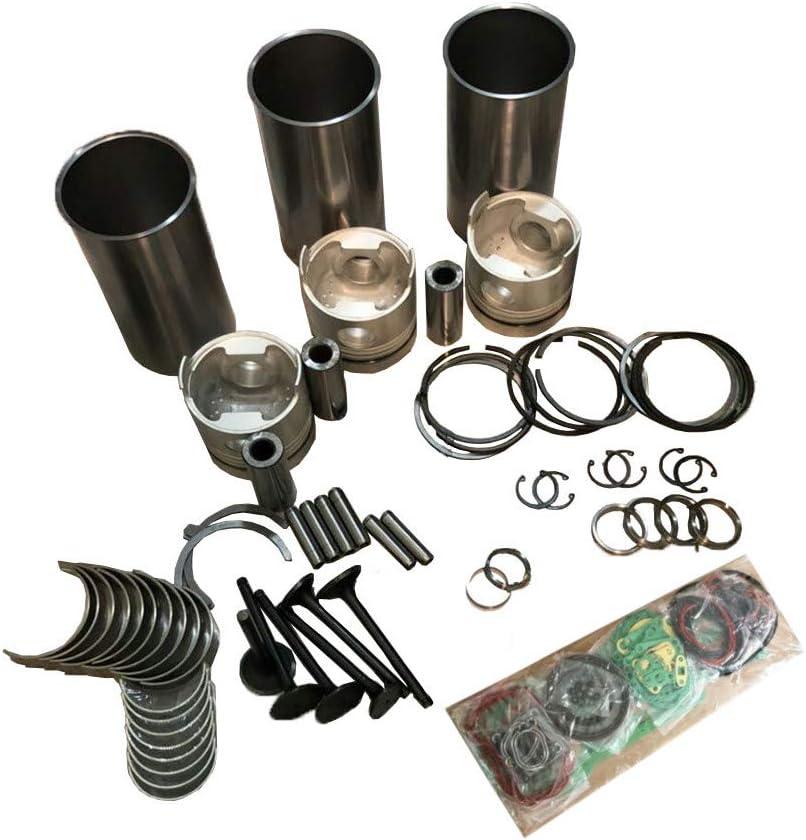 IDI 3 Cylinder Overhaul Rebuild Kit for Kubota D905 D905E B905B B905H Engine