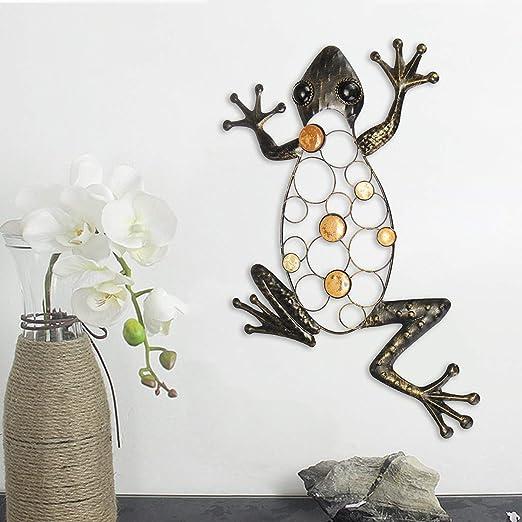 Bureze Adorno de Pared de Hierro para Colgar en el jardín, diseño de Rana: Amazon.es: Hogar