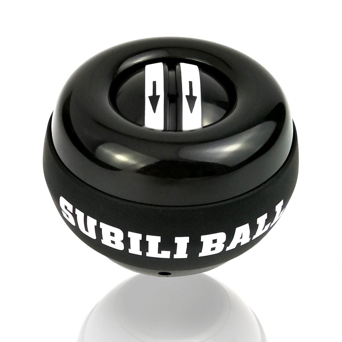 [Upgraded] Yusam Auto-Start Wrist Trainer LED Wrist Ball Exerciser Powerball Wrist Arm Strengthener Workout Toy Spinner Gyroscope Ball(Black)