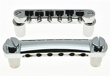 Puente Tune-o-matic y cordal de cromo de KAISH para guitarra eléctrica Epiphone LP Les Paul: Amazon.es: Instrumentos musicales
