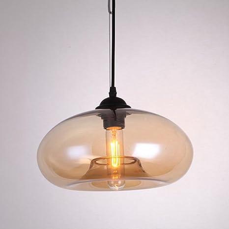 Lámpara industrial E27 Vintage LOFT Lámpara colgante de techo de color Lámpara colgante de vidrio de cristal (3)