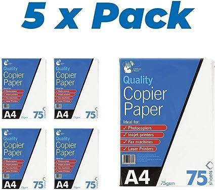 Carta da gr stampanti laser ink-jet b//n disegni artistici e tecnici Risma da 500 fogli A4 in formato mm 210x297 Confezione contenente una risma telefax fotocopiatrici 80 per copiatrici Carta A4 per stampa e fotocopie