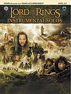 The Lord of the Rings Instrumental Solos for Strings: Violin (with Piano Acc.), Book & CD