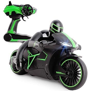 deAO Moto de Carreras GP Grand Prix Teledirigida a Pequeña Escala Incluye Batería Recargable y Cargador USB