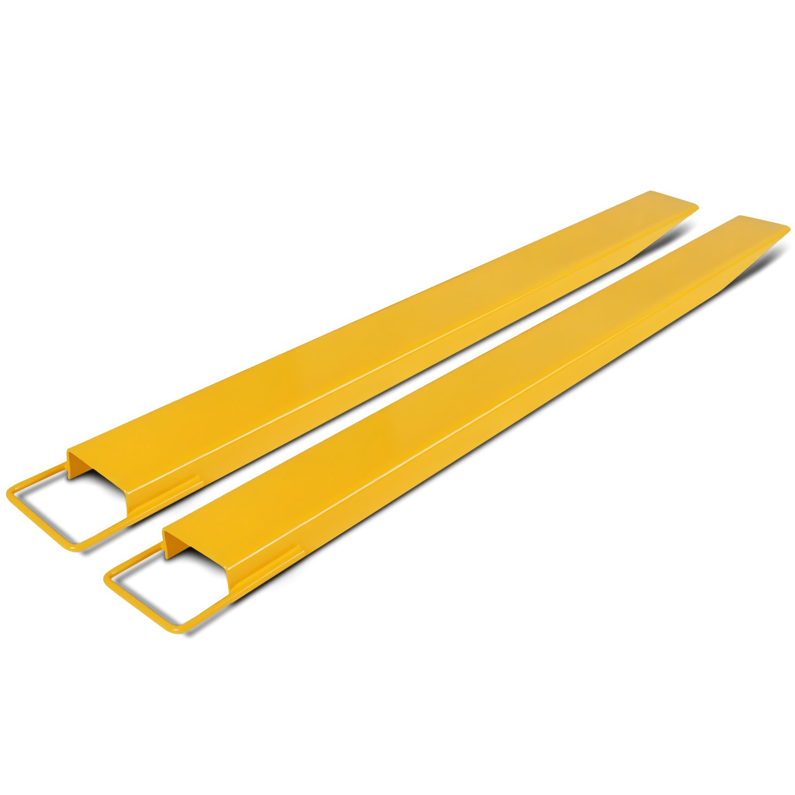 Happybuy Pallet Fork Extensions 84 Inch Length 6 Inch Width Forklift Extensions for Forklift 2 Inch Thickness Fork Extensions Yellow