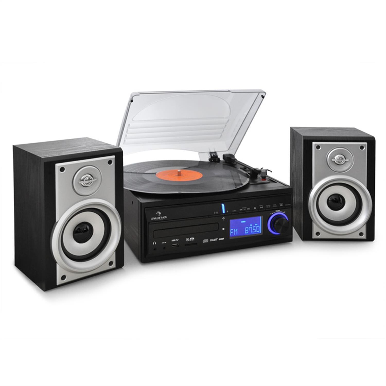 Auna DS 2 Altavoz Hi-Fi Tocadiscos convertidor a MP3 (USB ...