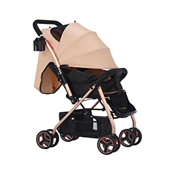 TZ Lightweight Umbrella Stroller with Extra Large Sun Canopy-Khaki  sc 1 st  Amazon.com : stroller with large canopy - memphite.com