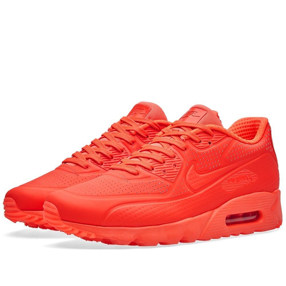 Nike Men's Air Max 90 Ultra Moire, Bright CrimsonBright