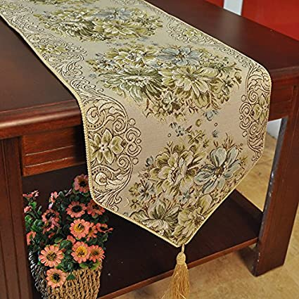 Coffee Table Runner.Hiendure Dining Table Runners Tassel Hotel Bed Coffee Table Runners 11inch98 4inch Classic Embroidery European Style