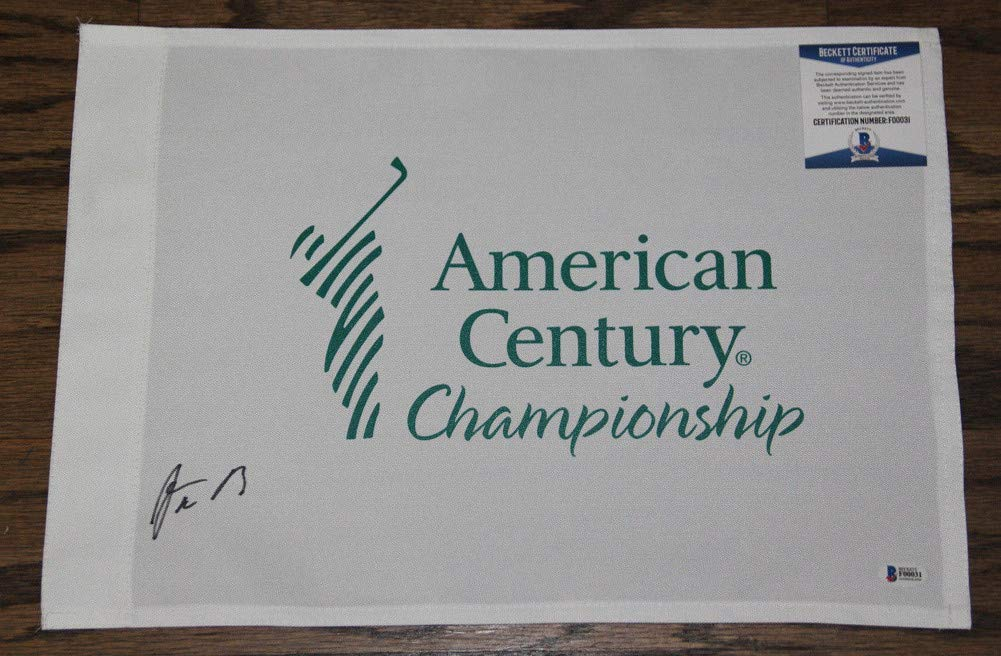 Aaron Rodgers Autographed Signed Auto American Century Championship Flag Bas #F00031 Packers