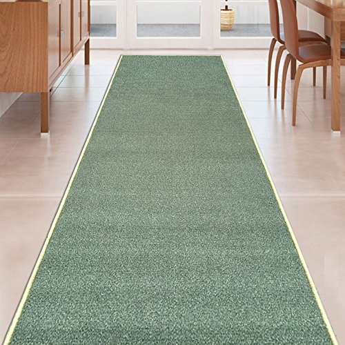Custom TEAL GREEN Rubber Non Slip Hallway