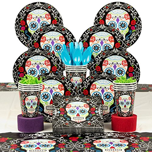 [Costume Supercenter BBKIT1046 Day of the Dead Party Deluxe Tableware Kit] (Costume Ideas For Day Of The Dead)
