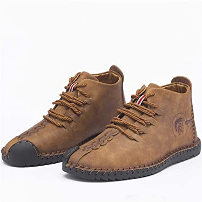 LIEBE721 Botas Chukka de Tobillo Casuales para Hombre Invierno cálido Antideslizante Forro de Felpa Moda Botines al Aire Libre Mocasines: Amazon.es: Zapatos ...