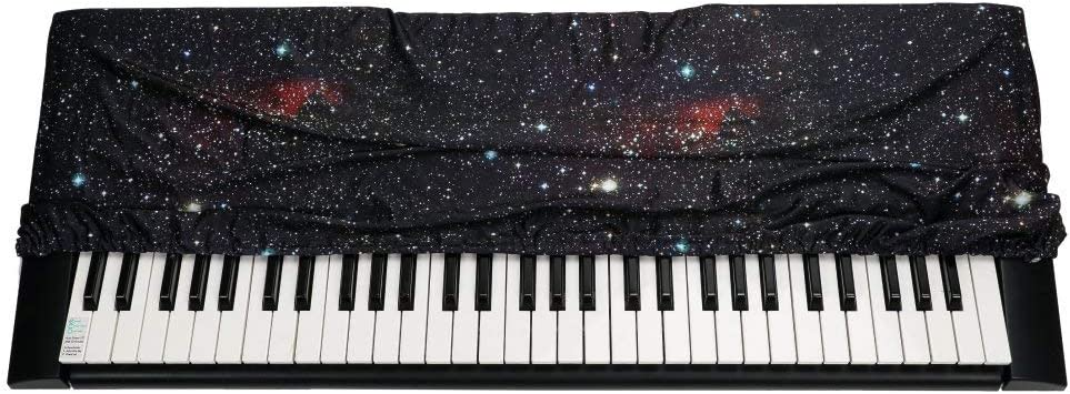 Dust Proof Strecthable Piano Notes C QEES Keyboard Cover for Both 61 and 88 Key