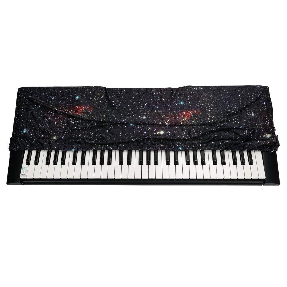 QEES GQZ05 GQZ05 - Funda para teclado con cierre de cordón elástico, diseño de estrellas, color morado