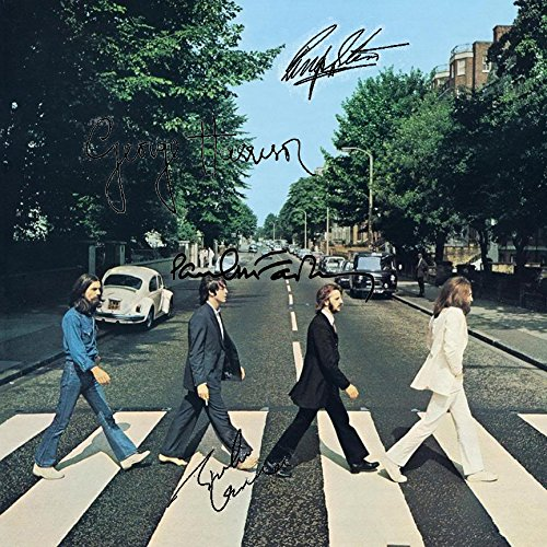 The Beatles Autographs - The Beatles Signed Autographed Abbey Road Record Album Cover LP Autographed Signed Facsimile