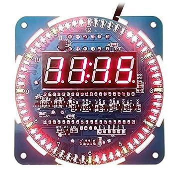5 V módulo DS1302 rotación de pantalla LED reloj de alarma ...
