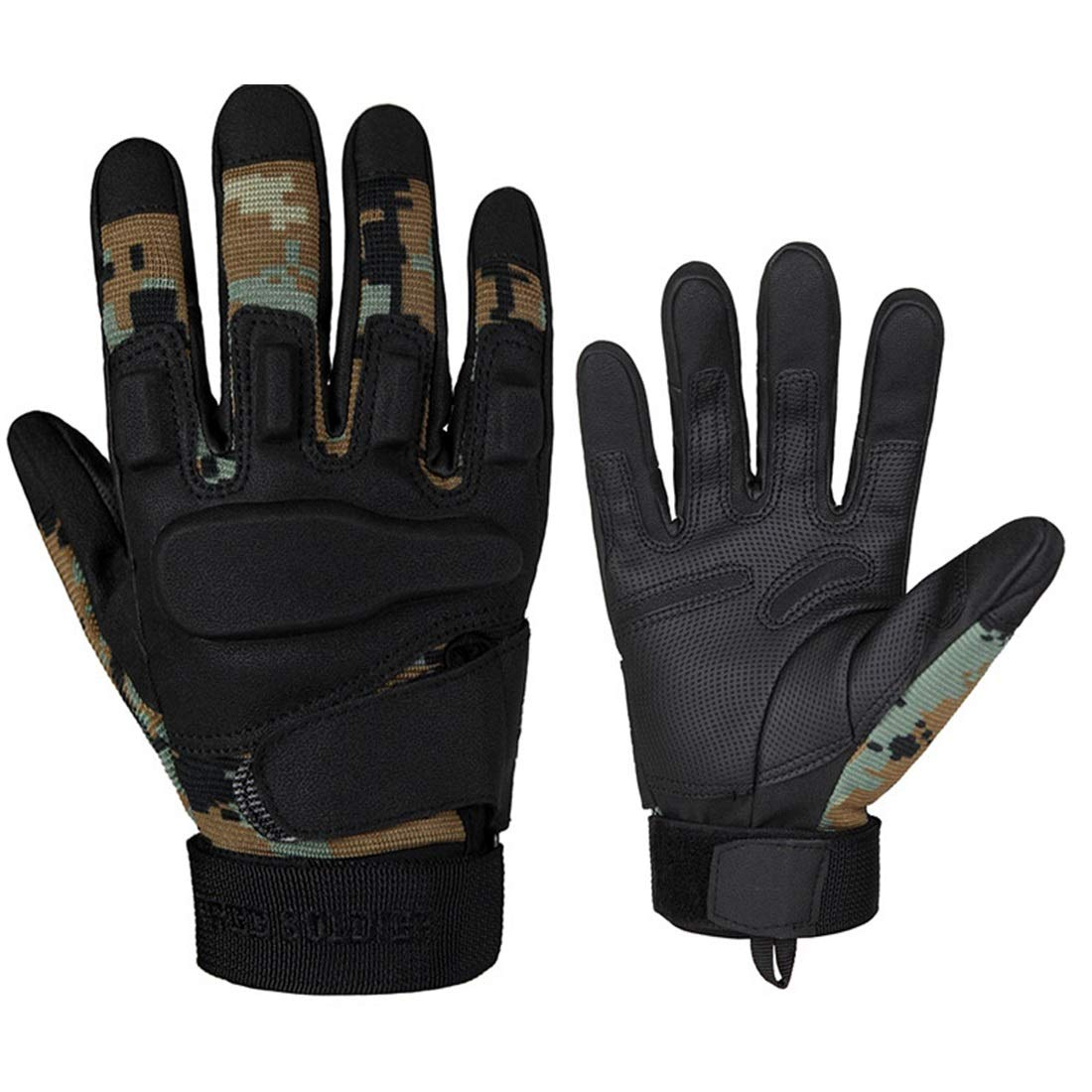 KirinArt schwarz Hawk Hell Storm Tactical Handschuhe schwarz Hawk Army Fan Vollfinger-Handschuhe