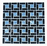 Box 10 Tiles Black Stone & Glass Mosaic Tile 12''x12'' CASININA-MX008 (10)