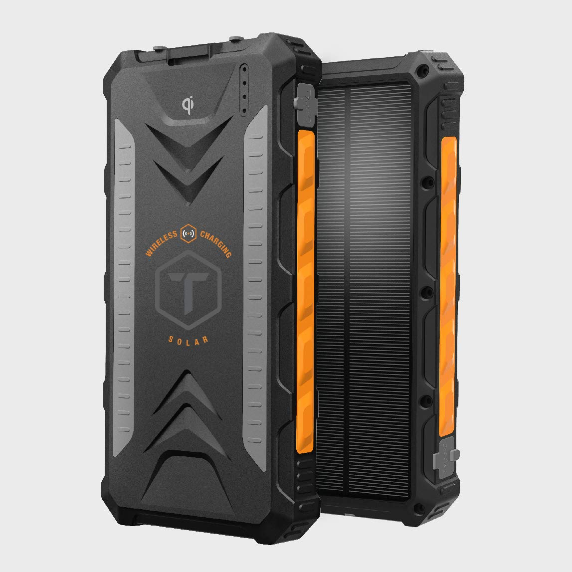 ToughTested - 10000mAh Solar Charger Portable Battery Pack Wireless Waterproof Charger IP65 Rating by ToughTested