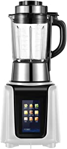 HEN'GMF 1600 Watt Immersion Multi-Purpose Blender with Glass Jar, 1750ml Smoothie Cup and Food Processor Attachment, Copper Motor Brushed 304 Stainless Steel