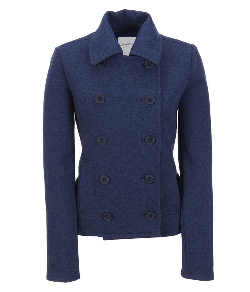 Aeropostale Womens Solid Fleece Pea Coat Blue XL - Juniors