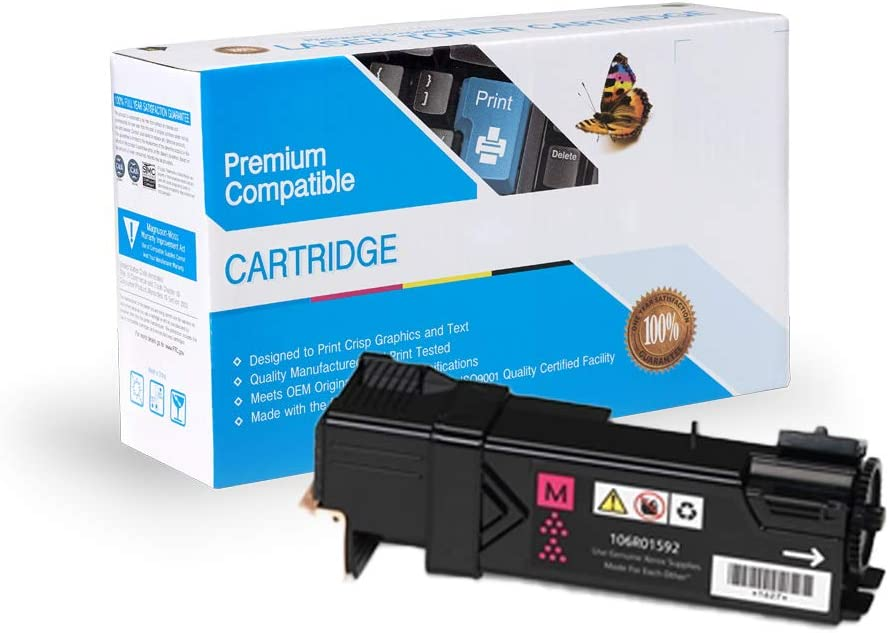 Magenta 106R01592 Works with: Phaser 6500 On-Site Laser Compatible Toner Replacement for Xerox 106R01595 6500DN; WorkCentre 6505 6500N