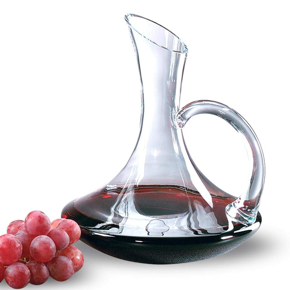 """Holidays /& More Badash Crystal CD733 Full Bottle of Wine Anti-Drip Design for Dinner Parties Holds over 750 ML /""""The Tristan/"""" Hand Crafted Lead Free Fine Crystal Wine Decanter 100/% Mouth Blown Red Wine Carafe"""