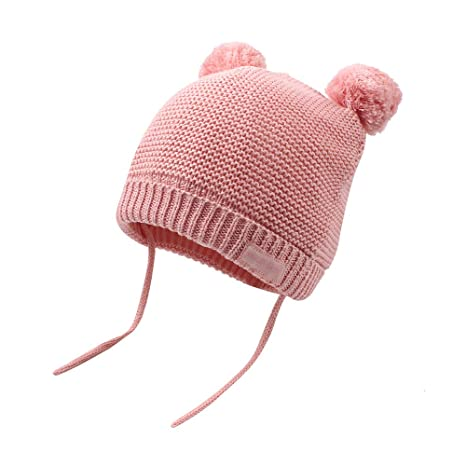 19f235a4920d7 XIAOHAWANG Baby Knit Hats Warm Toddler Boys Girls Winter Caps Pom ...